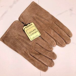 NWT-Fownes  tan leather gloves
